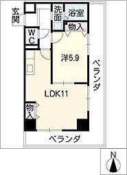 第3さくらマンション中央[9階]の間取り