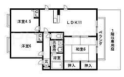 大阪府八尾市柏村町2丁目の賃貸アパートの間取り