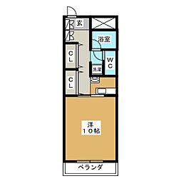 NTビル塩釜[4階]の間取り