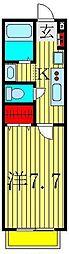 セナリオフォルム柏II[1階]の間取り