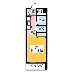 名駅富士ビル[6階]の間取り
