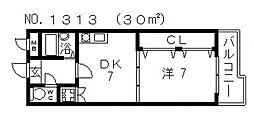 エイチ・ツーオー今川[1階]の間取り