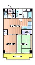 T´s garden HITOTSUBASHI GAKUEN[1階]の間取り