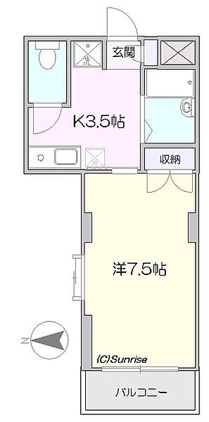 ビクトワール西新宿[3階]の間取り