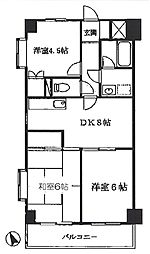 ノーブル茅ヶ崎[3階]の間取り