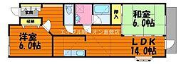 [タウンハウス] 岡山県倉敷市鳥羽 の賃貸【/】の間取り