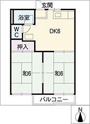 フォーブル稲垣[2階]の間取り