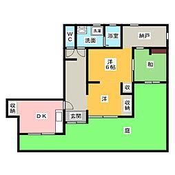 イトウマンション[1階]の間取り