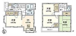 [一戸建] 千葉県松戸市西馬橋1丁目 の賃貸【/】の間取り