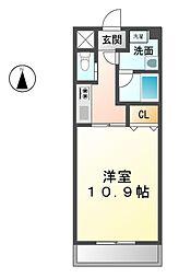 愛知県北名古屋市鹿田永塚の賃貸マンションの間取り