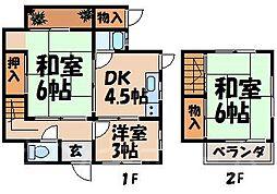 [テラスハウス] 広島県広島市安芸区船越6丁目 の賃貸【/】の間取り