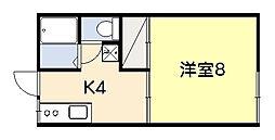 ファミーユ吉野[102号室]の間取り