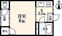 コーポ双葉[1階]の間取り