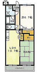 レジデンス原田[3階]の間取り