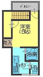 升田アパート[1号室]の間取り