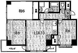 第37長栄クレメント五条[301号室号室]の間取り
