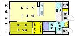40 峯ビル[2階]の間取り