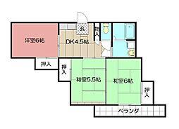 中村興産ビル[402号室]の間取り