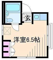 神奈川県横浜市港北区綱島東5丁目の賃貸アパートの間取り