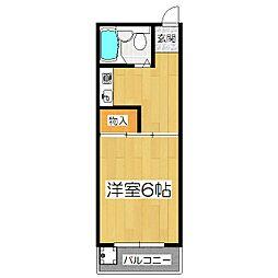 セジュール花山[2階]の間取り
