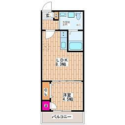 FmaisonLibleII(エフメゾンリーブルII)[2階]の間取り