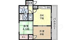 阪神本線 住吉駅 徒歩5分の賃貸マンション 1階2LDKの間取り