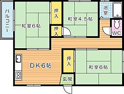 第1平野ビル[402号室]の間取り