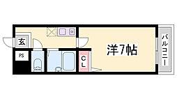 ブロスコート六甲Ⅱ[8階]の間取り