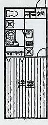 東京都西多摩郡瑞穂町大字長岡長谷部の賃貸アパートの間取り