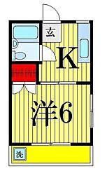 バーディートライホームズ[1-308号室]の間取り
