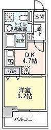 メルベイユヨコハマ[6階]の間取り