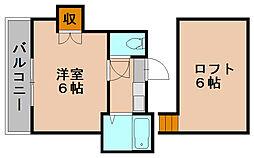 福岡県福岡市博多区堅粕4の賃貸アパートの間取り