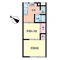 長沼熊谷ハイツ[2階]の間取り