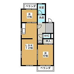 メゾン京命[2階]の間取り