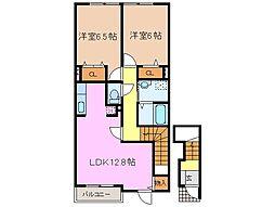 レジデンスブロッコリーD棟[2階]の間取り