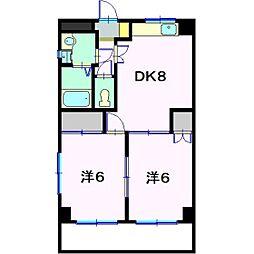 カ−サヤマエ[3階]の間取り