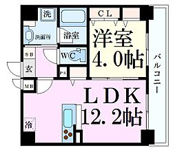 Osaka Metro谷町線 天神橋筋六丁目駅 徒歩5分の賃貸マンション 3階1LDKの間取り
