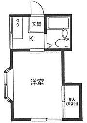 神奈川県相模原市南区上鶴間8丁目の賃貸アパートの間取り