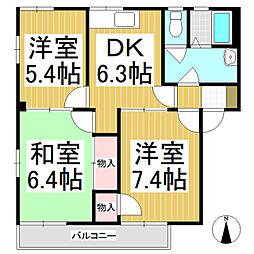 フレグランスミール A棟[2階]の間取り