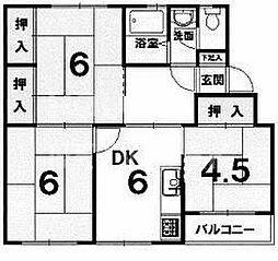 修学院住宅A棟[402号室号室]の間取り