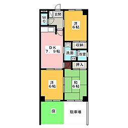 ボヌール穂並[1階]の間取り