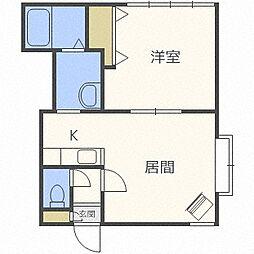セラヴィ138[1階]の間取り