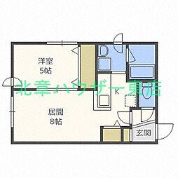 札幌市営東豊線 元町駅 徒歩8分の賃貸マンション 4階1LDKの間取り