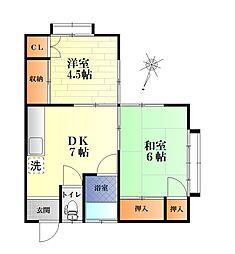 石渡アパート[2階]の間取り