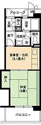 URアーバンラフレ小幡1号棟[5階]の間取り