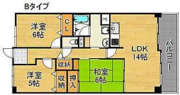 サワー・ドゥー住之江公園[11階]の間取り