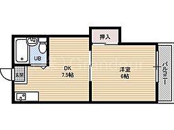 リリアン都島[3階]の間取り