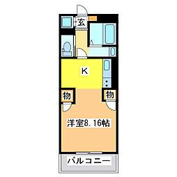 広島県東広島市黒瀬町乃美尾の賃貸マンションの間取り