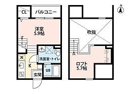 SPICA中島新町[1階]の間取り
