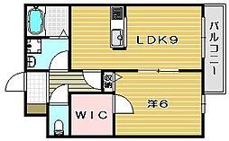 大阪府茨木市学園南町の賃貸マンションの間取り